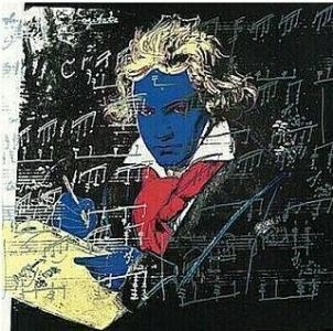 obras andy warhol pop art Beethoven