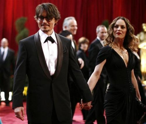 foto johnny depp no oscar 2012