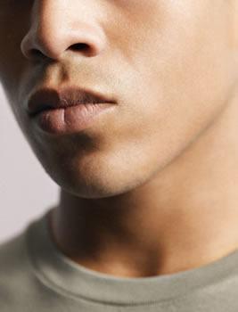 labios masculinos
