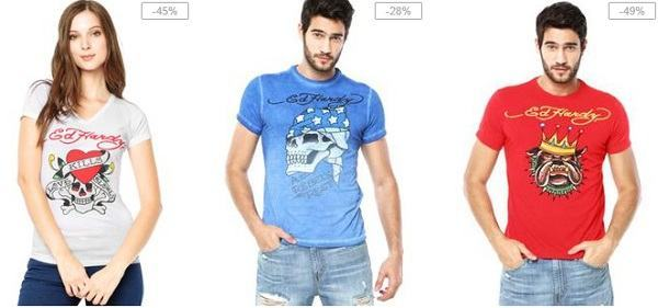 camisetas ed hardy masculinas e femininas
