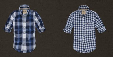 modelo e foto camisa hollister xadrez masculina 69e878a6cc4b5