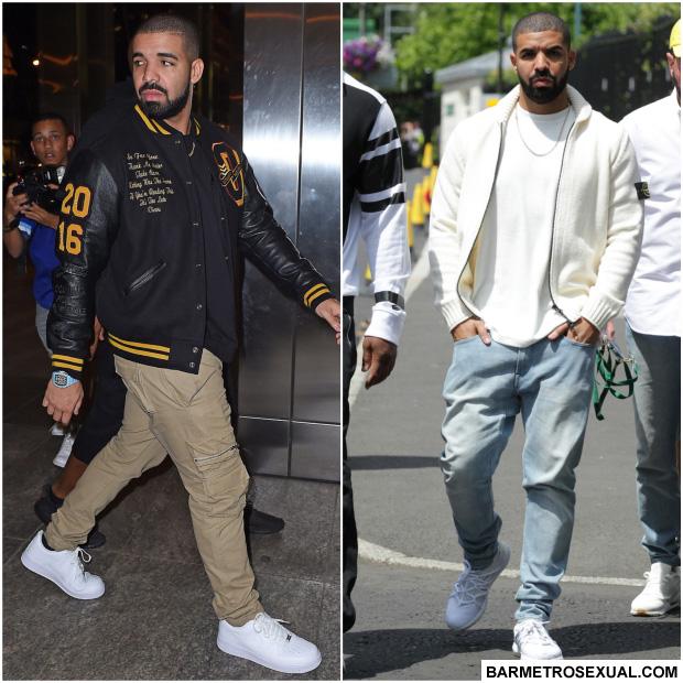 43a9556956592 O rapper Drake é um dos cantores mais popular atualmente. O modo de se  vestir dele é clássico. Lembra muito os anos 90
