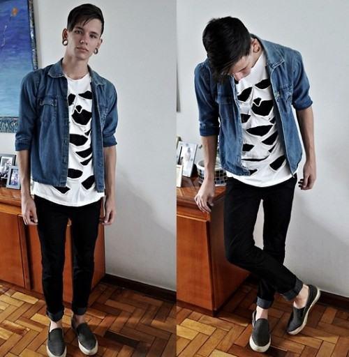 foto camisa jeans