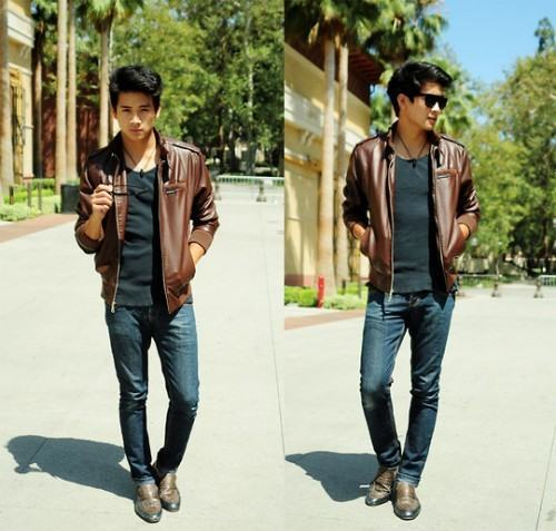 foto casaco de couro