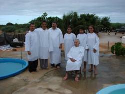 roupa batizado evangelico