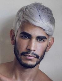 cabelo de homem cinza