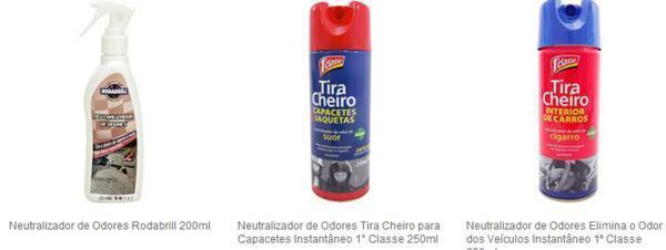 produto para tirar cheiro ruim do carro