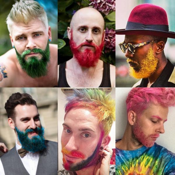 barba colorida