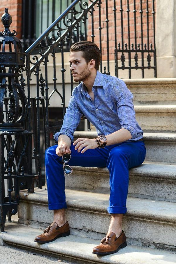 Blue Denim Shirt Mens